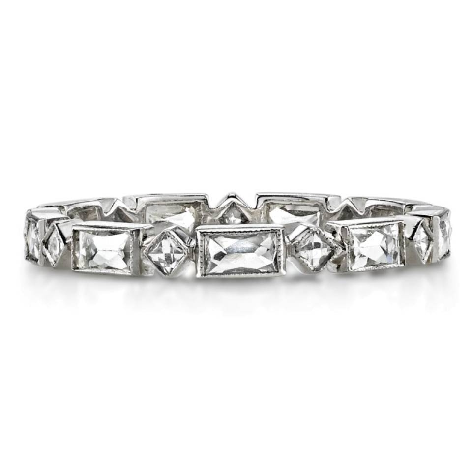 Single Stone Madeline French Cut Diamond Band – Greenwich St (View 13 of 15)