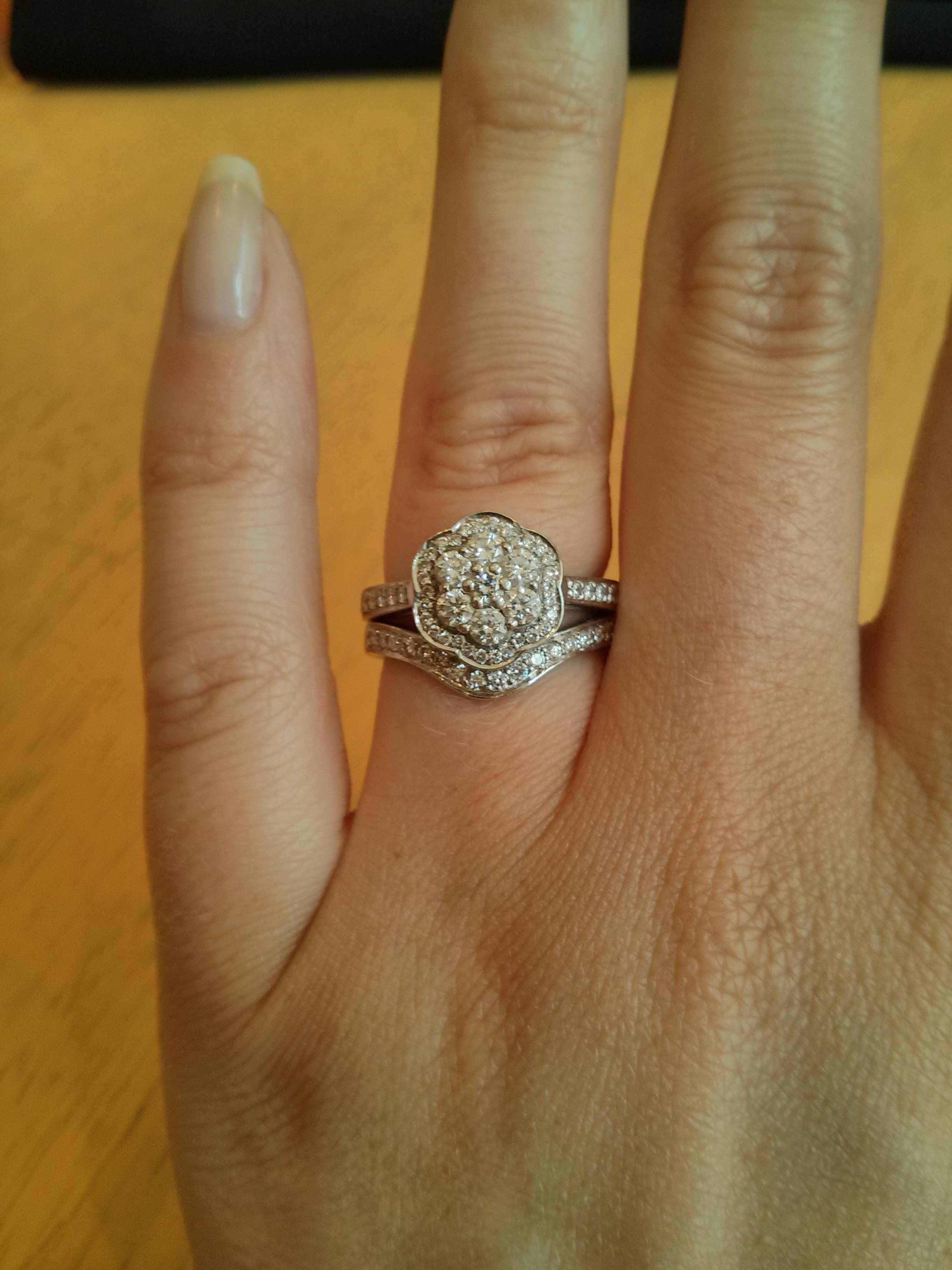Size Of Small Diamonds For Halo Setting? – Weddingbee In Small Size Engagement Rings (View 11 of 15)
