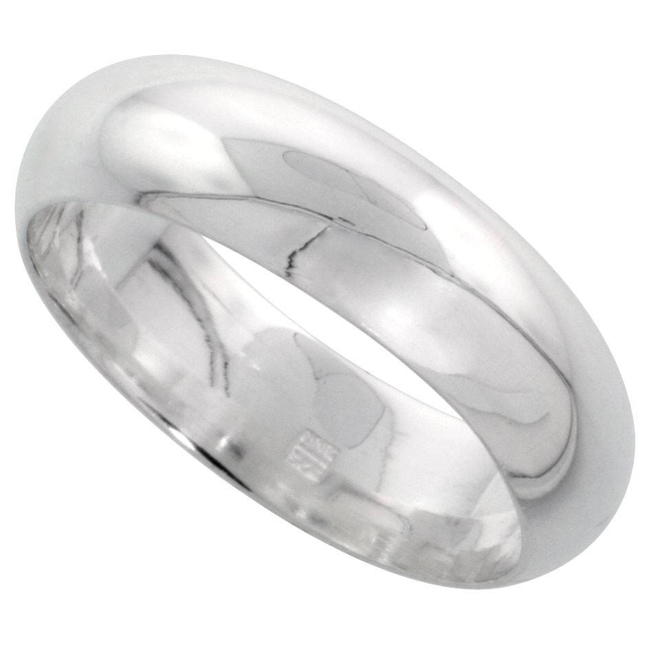 Solid Sterling Silver Band Comfort Fit Ring Genuine 925 Wholesale Intended For Mens Sterling Wedding Bands (View 14 of 15)