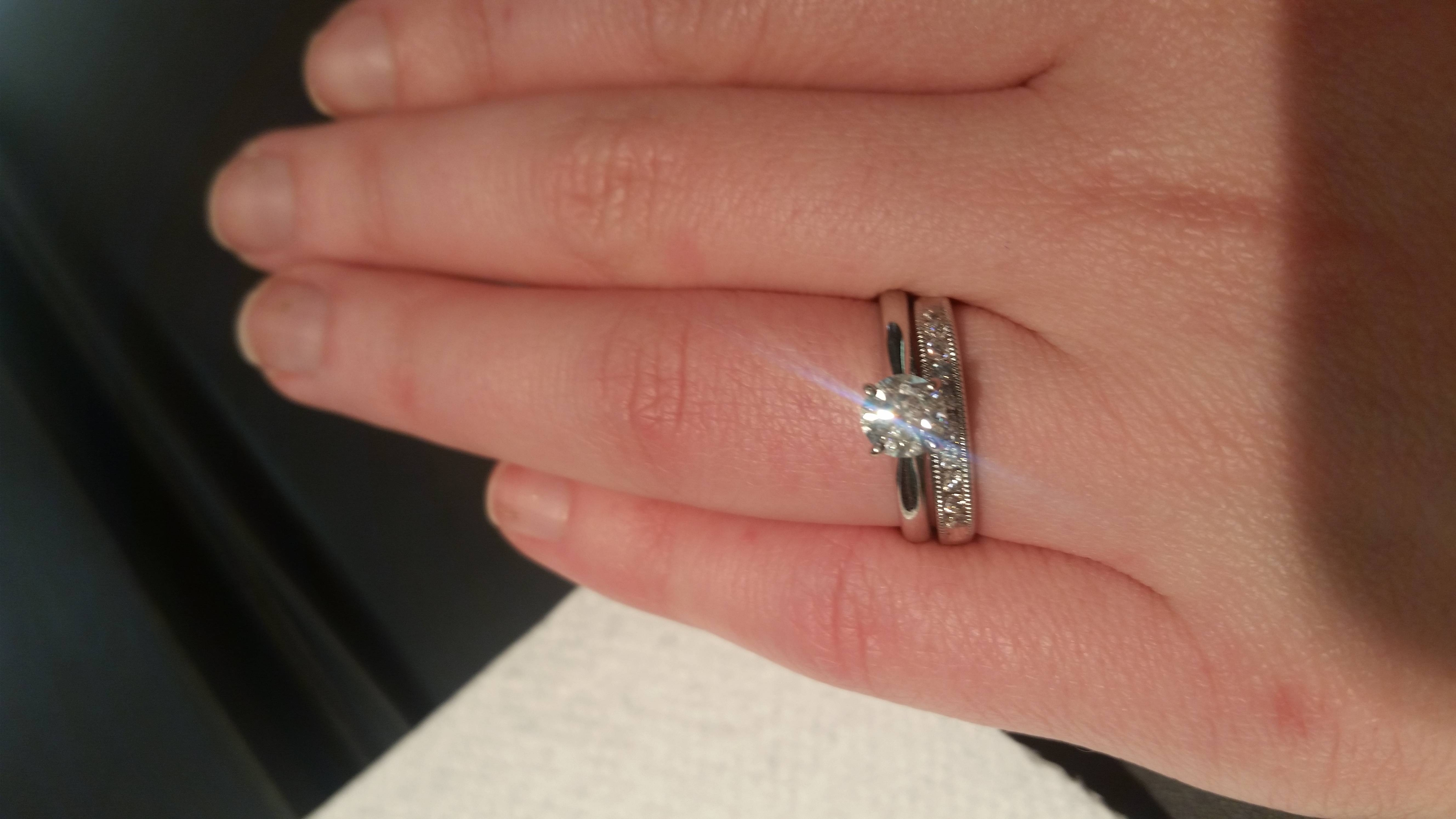 Solitaire Diamond With Wedding Band Tags : Wedding Bands For For Current Solitaire Engagement Rings And Wedding Bands (View 14 of 15)