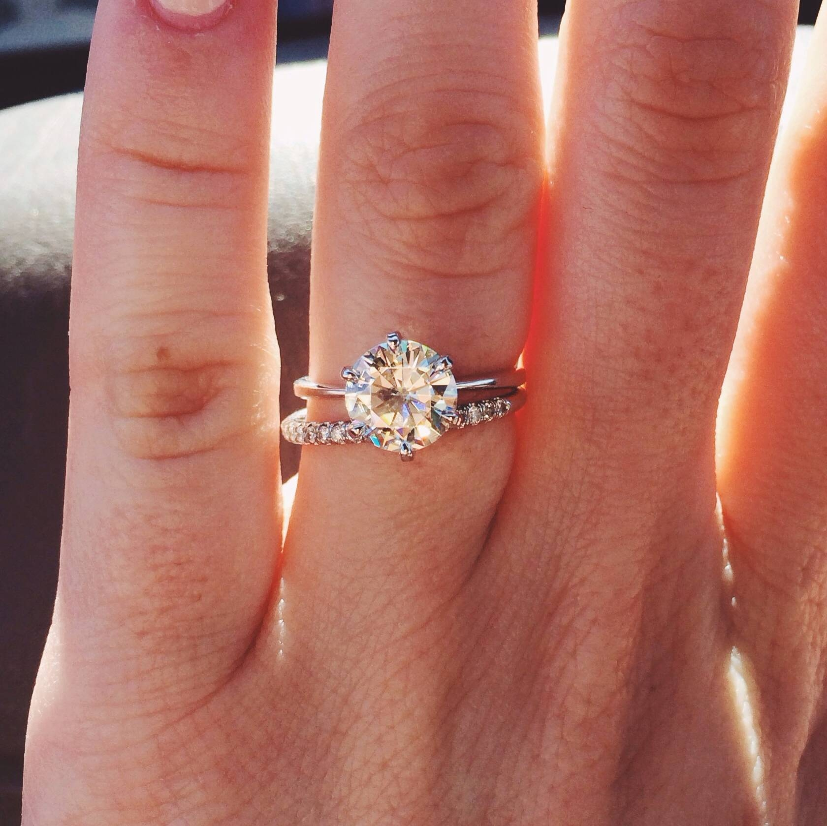 Solitaire Engagement Ring And Wedding Band Tags : Modern Diamond Within Recent Solitaire Engagement Rings And Wedding Bands (View 12 of 15)