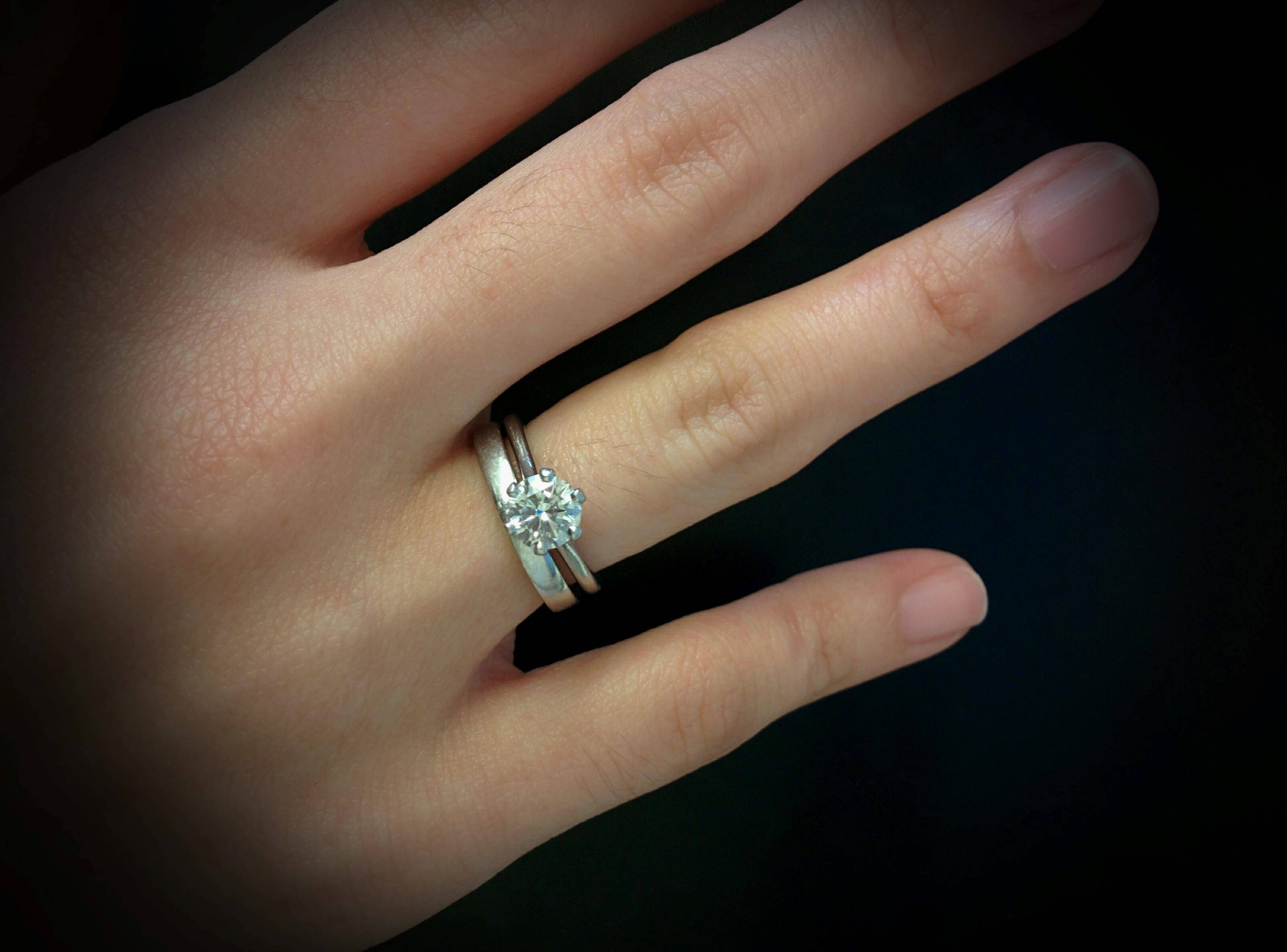 Solitaire Ring With Wedding Band Tags : Modern Diamond Wedding Inside Solitaire Rings With Wedding Band (View 10 of 15)