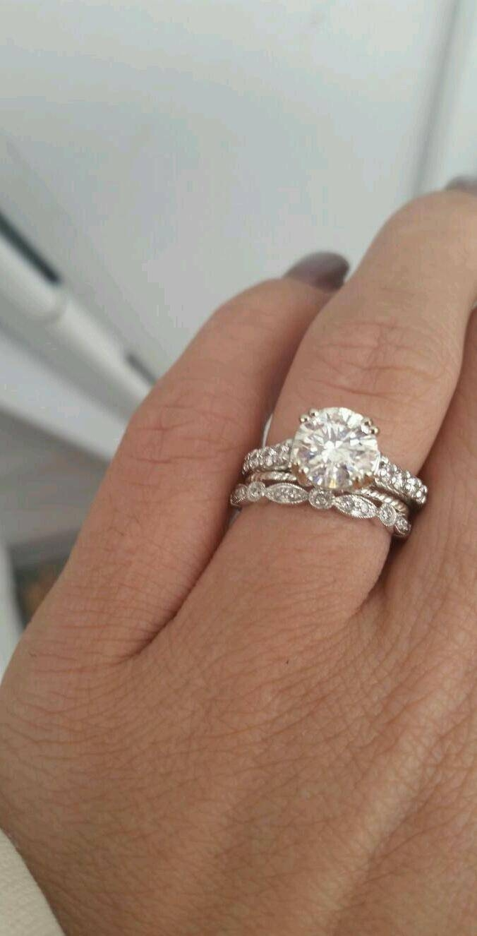 Spacer Rings — Knife Edge Or Half Round? – Weddingbee Regarding Best And Newest 1 Mm Platinum Wedding Bands (View 6 of 15)
