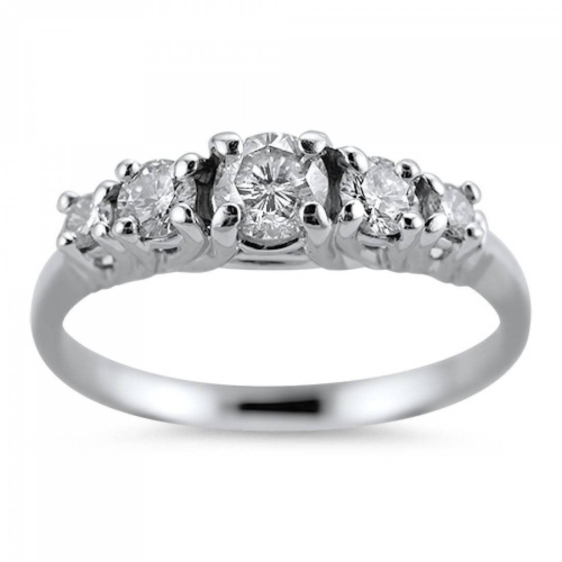 Springer's Jewelers | Maine & New Hampshire Jewelry Stores | Five Throughout Five Diamond Engagement Ring (View 13 of 15)