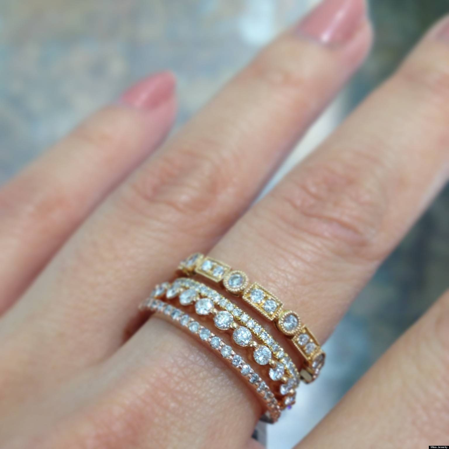 Featured Photo of Stackable Wedding Bands For Women