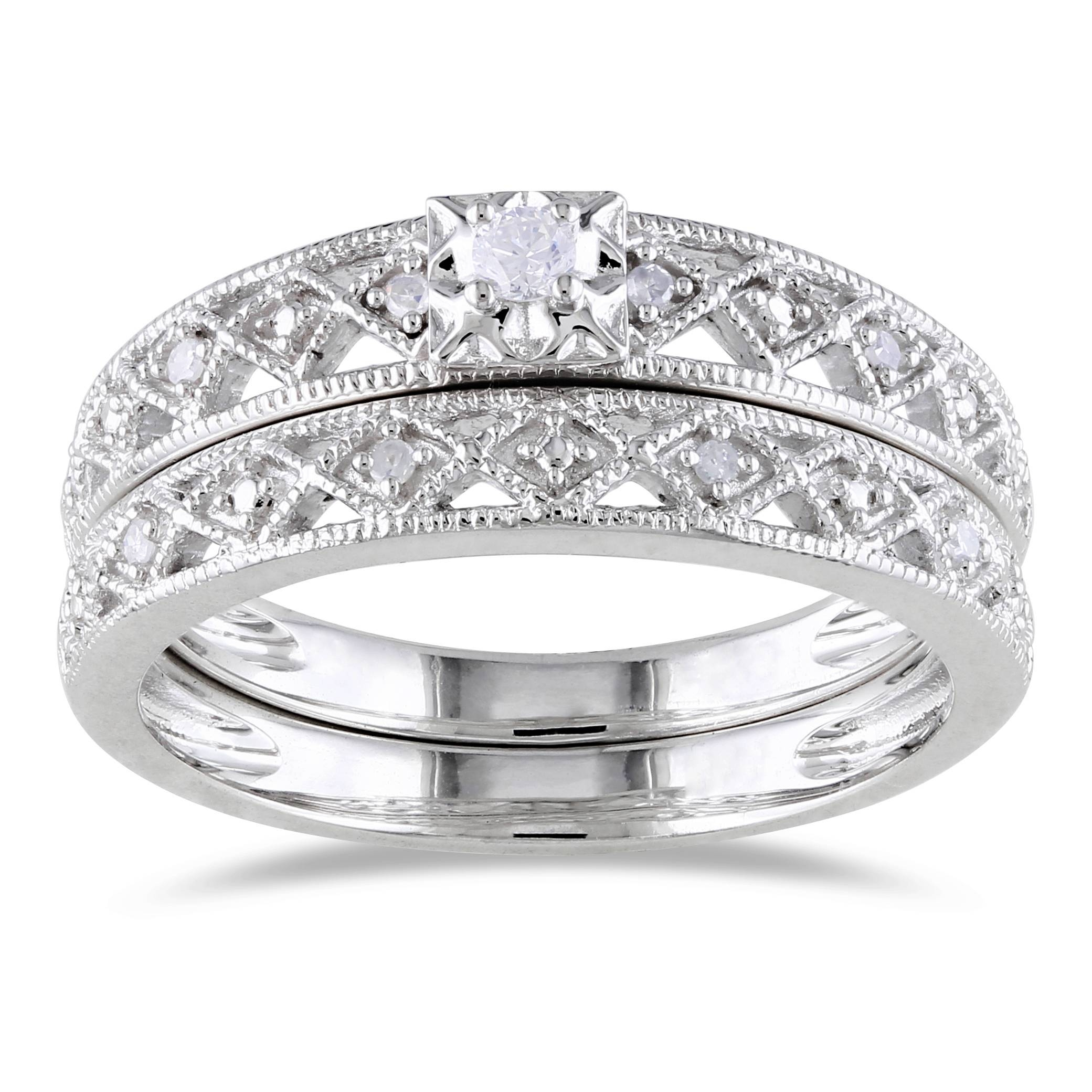 Sterling Silver Diamond Wedding Ring Wedwebtalks Simple Silver Throughout Womens Silver Wedding Bands (Gallery 12 of 15)