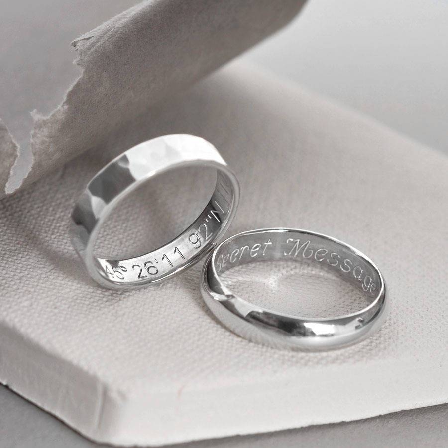 Sterling Silver Secret Message Ringmartha Jackson Sterling Pertaining To Sterling Silver Wedding Bands For Him (View 13 of 15)