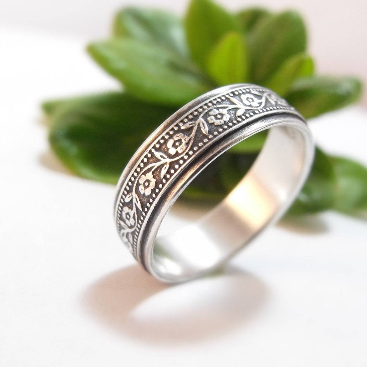 Sterling Silver Wedding Band Womens Wedding Band Mens Inside Latest Silver Womens Wedding Bands (View 8 of 15)