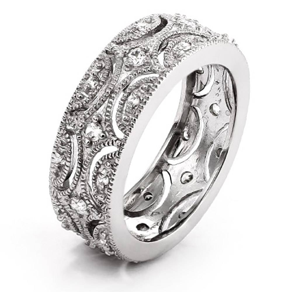 Style Wedding Band | Eve's Addiction® Pertaining To Most Popular Victorian Wedding Bands For Womens (View 3 of 15)