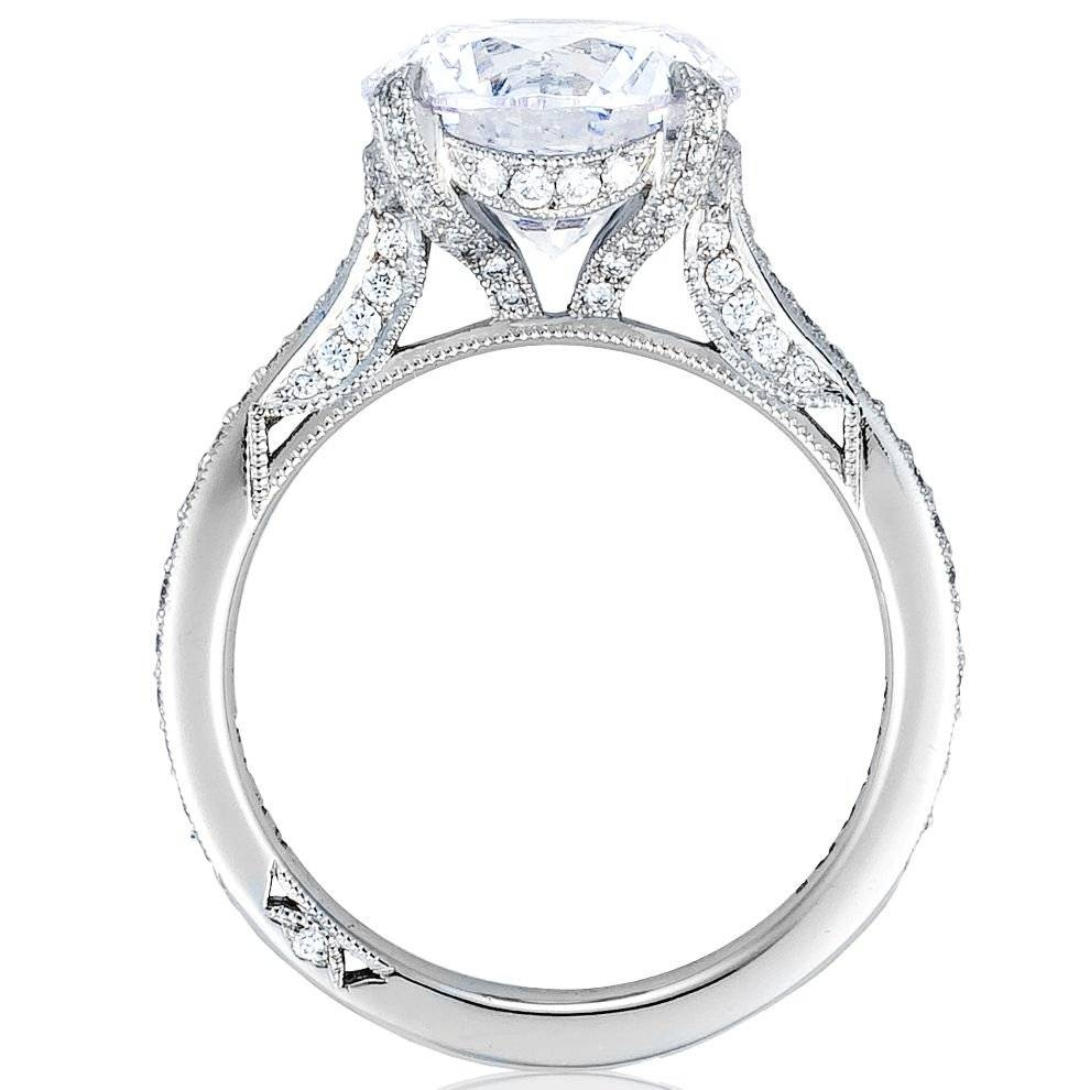 "Tacori – Tacori ""royalt Collection"" Round Pave Diamond Engagement Throughout 5 Diamond Engagement Rings (View 12 of 15)"