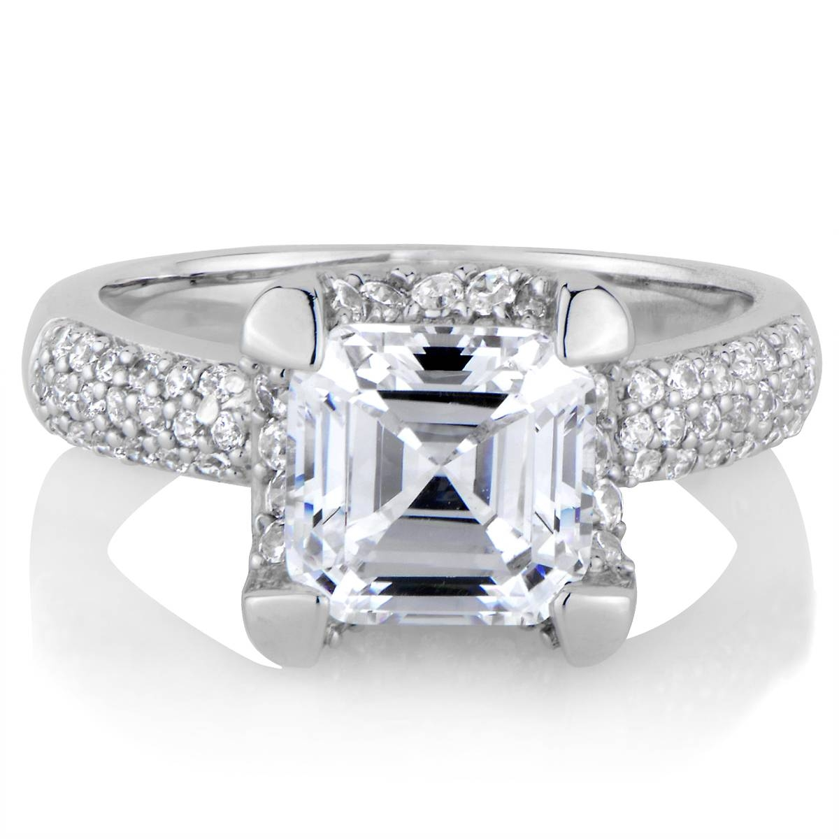 Talitha's Imitation Engagement Ring: Asscher Cut Cz Throughout Asscher Diamond Engagement Rings (View 15 of 15)