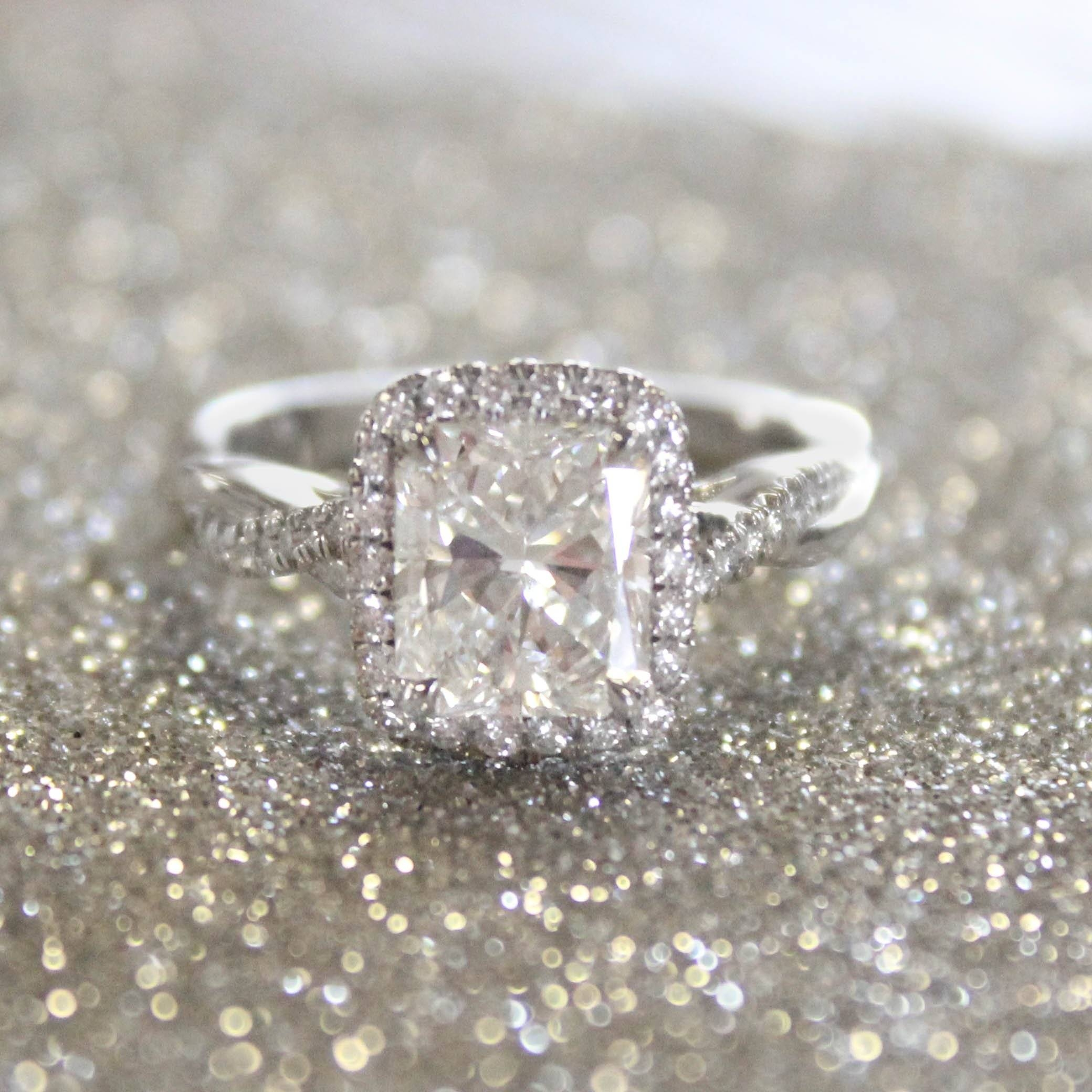 The 8 Most Beautiful Radiant Cut Engagement Rings – Brilliant Throughout Radiant Cut Engagement Ring Settings (View 13 of 15)