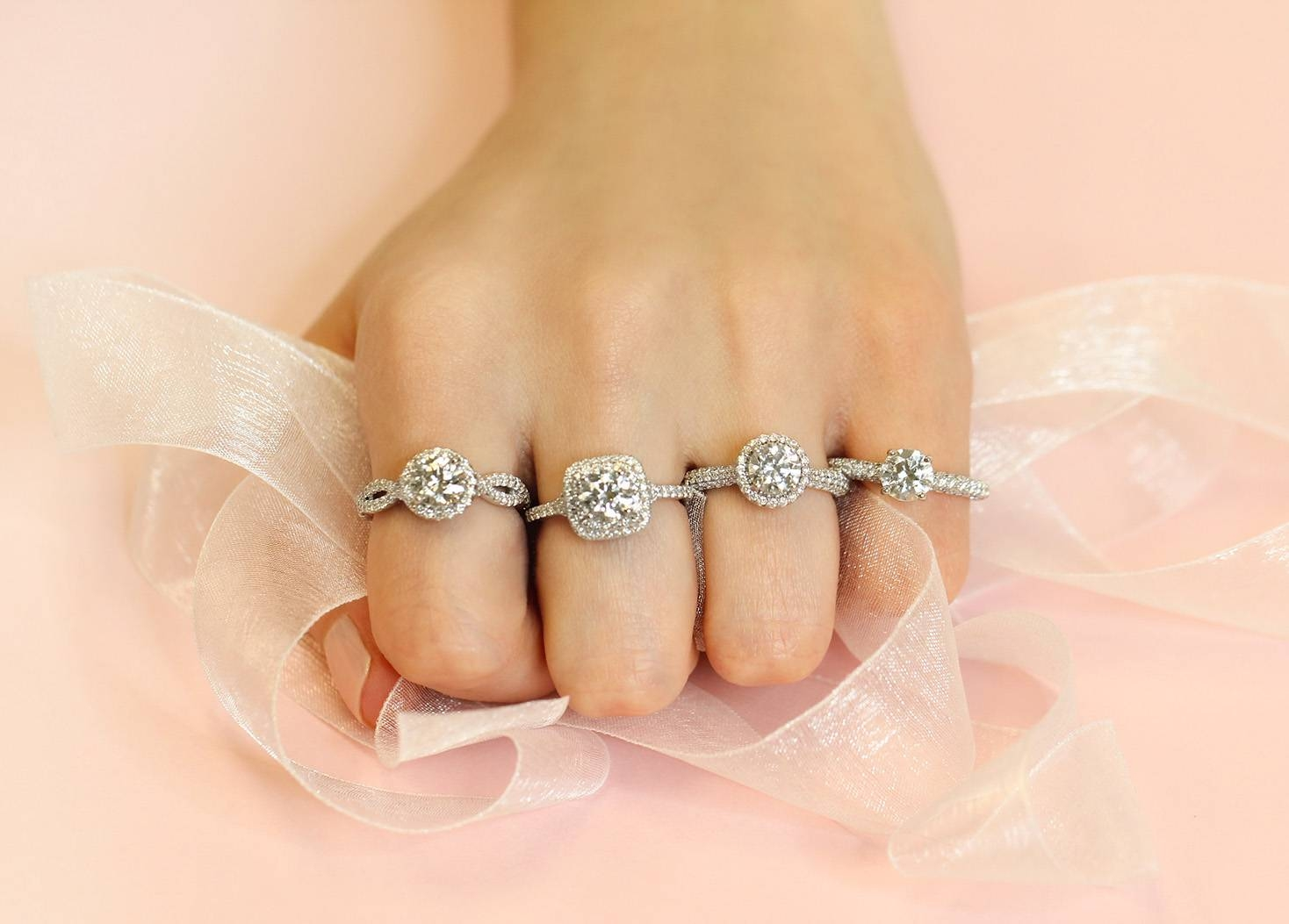 The Best Diamond Shape For Your Hand Size | Ritani Intended For Small Size Engagement Rings (View 9 of 15)