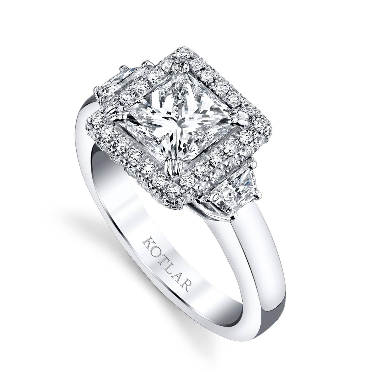 The Romantic Appeal Of Princess Cut Engagement Rings | The For Unique Princess Cut Diamond Engagement Rings (View 12 of 15)