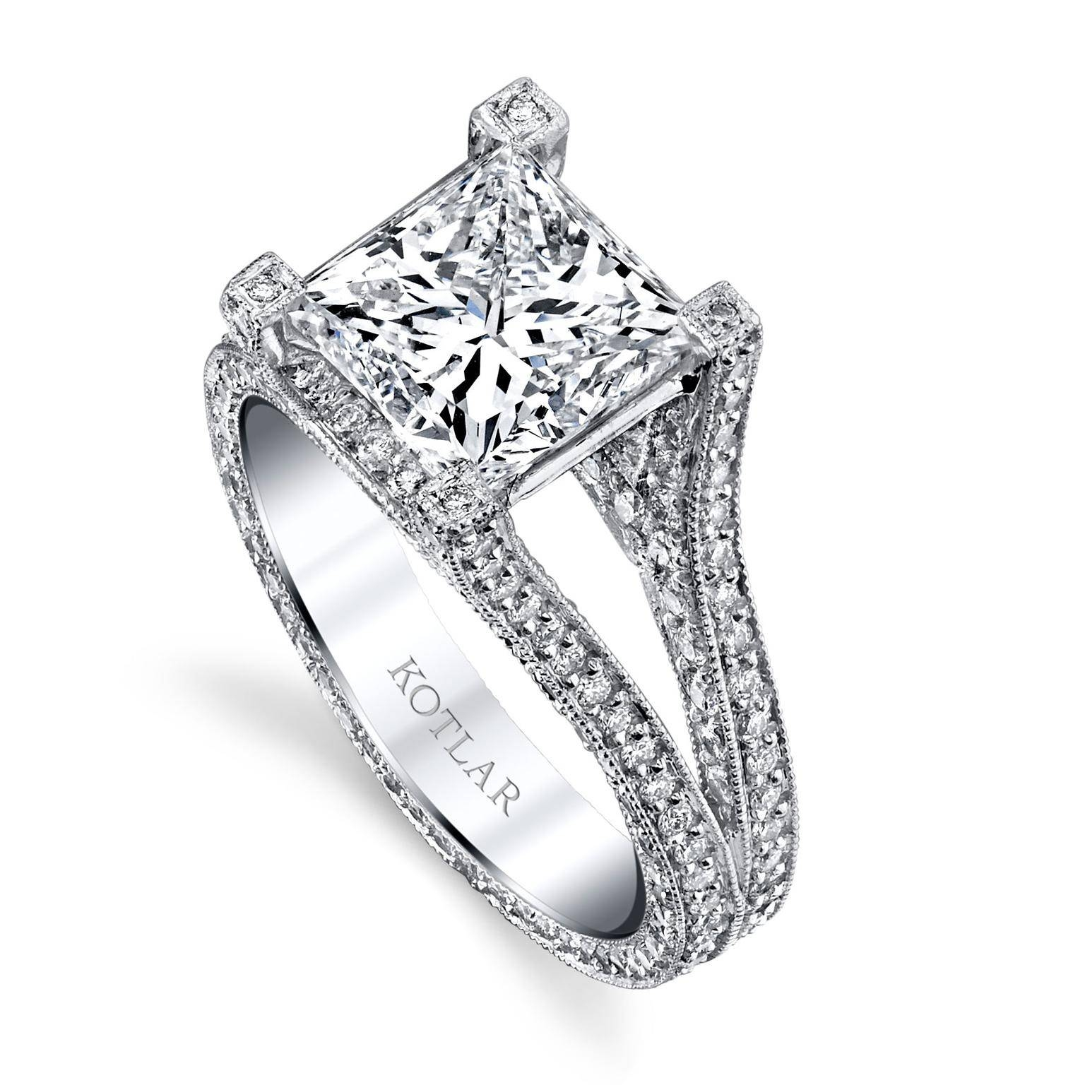 The Romantic Appeal Of Princess Cut Engagement Rings | The Intended For Princess Shaped Engagement Rings (Gallery 11 of 15)