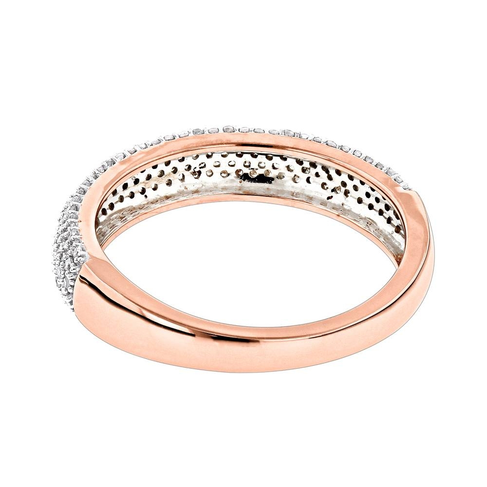 Thin 14k Gold Micro Pave Diamond Wedding Band For Women (View 10 of 15)