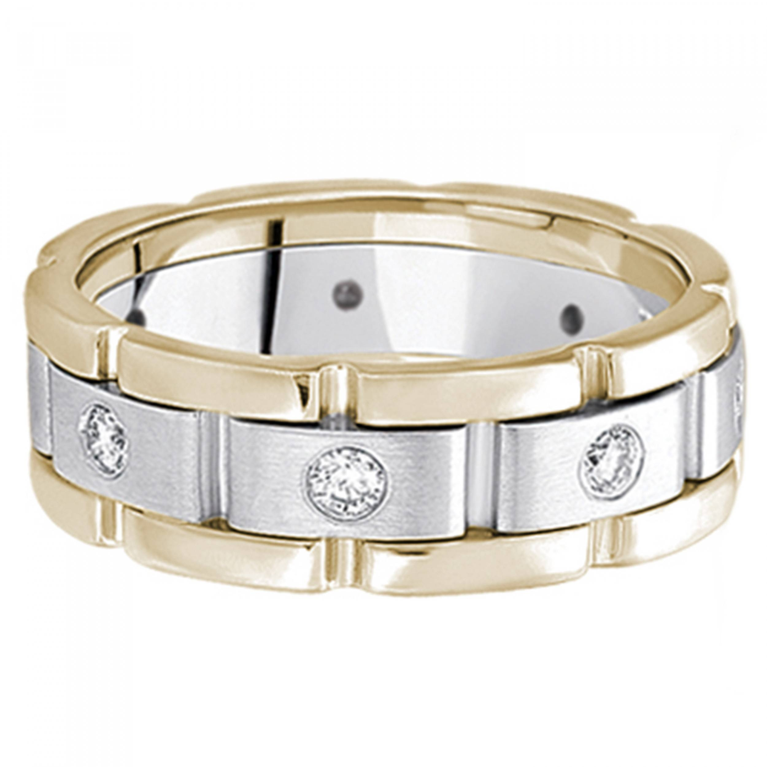 band ibg features uncompromising ravishing design and wedding seven pin two with an tone bands bold this