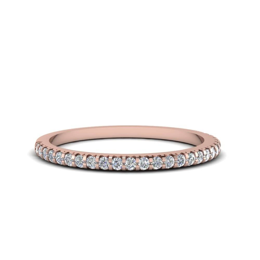 Thin Round Diamond Band In 14K Rose Gold | Fascinating Diamonds Throughout Rose Gold Womens Wedding Bands (View 14 of 15)