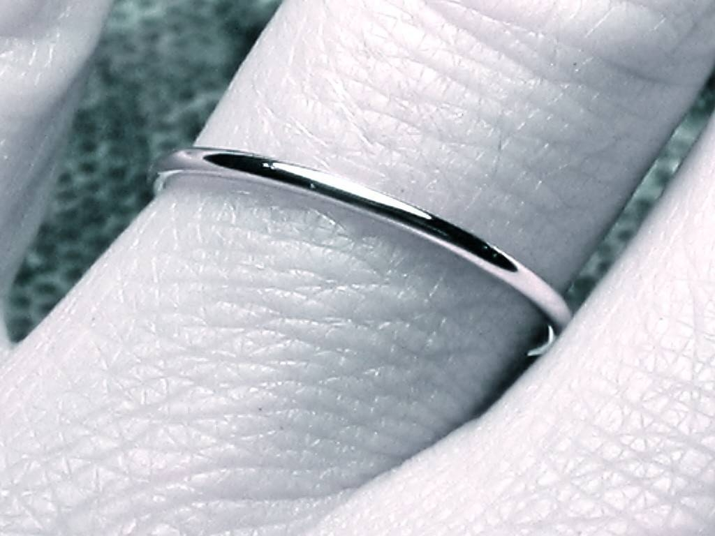 Thin Wedding Band White Gold Wedding Band Dainty Wedding Throughout Thin Wedding Bands For Women (View 11 of 15)