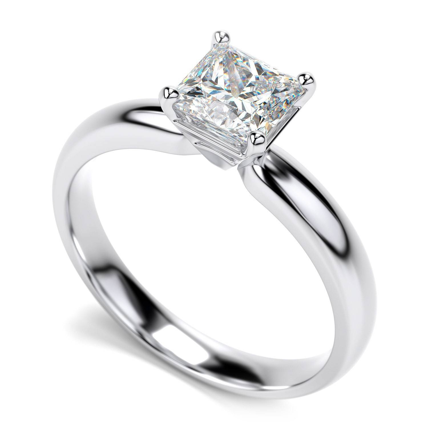 Tips And The 4 Cs To Choose Your Diamond Engagement Rings Within Princess Shaped Engagement Rings (View 1 of 15)