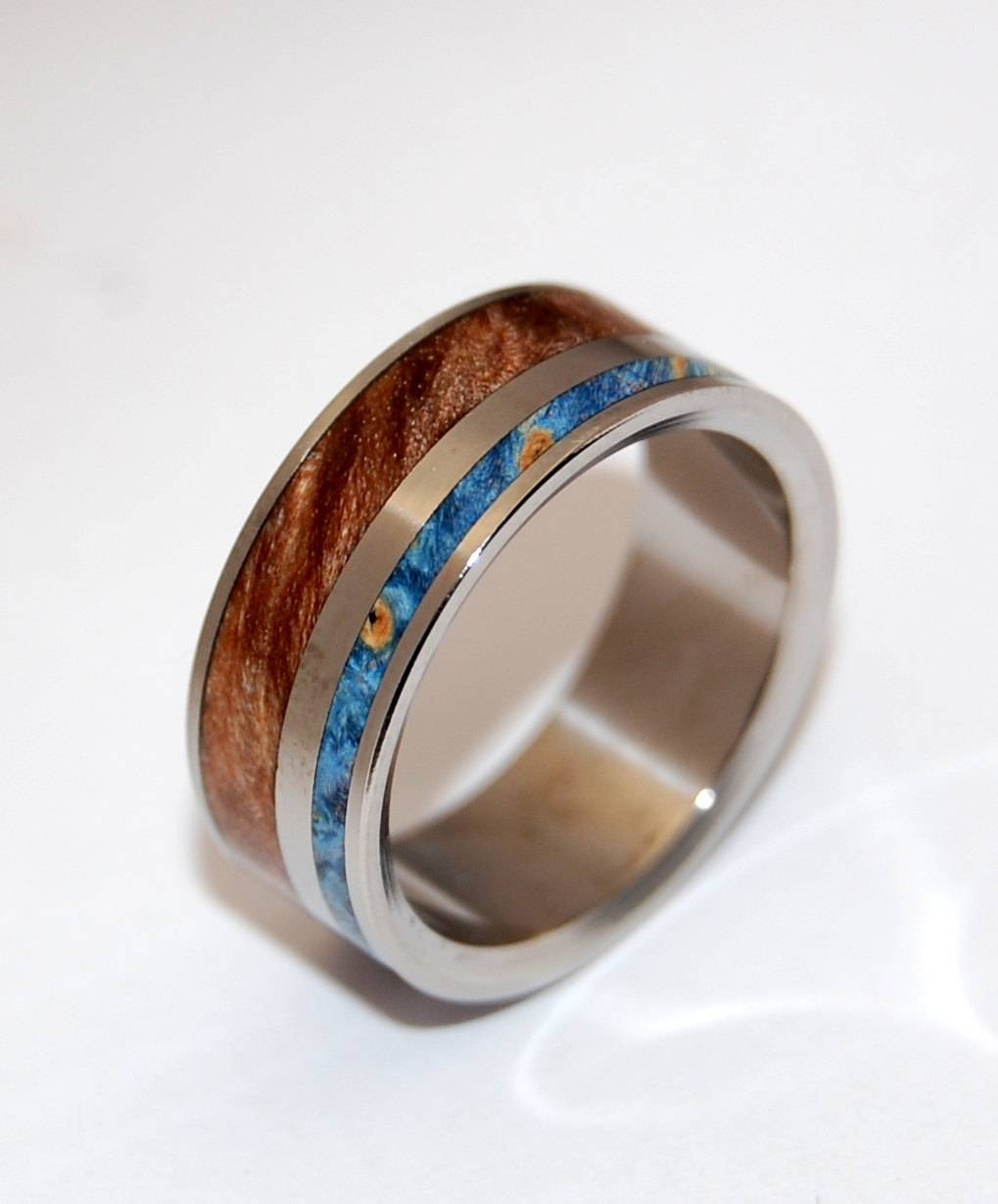 Titanium Ring Wedding Ring Wooden Wedding Rings Wood Ring With Regard To Wood Wedding Bands (View 4 of 15)