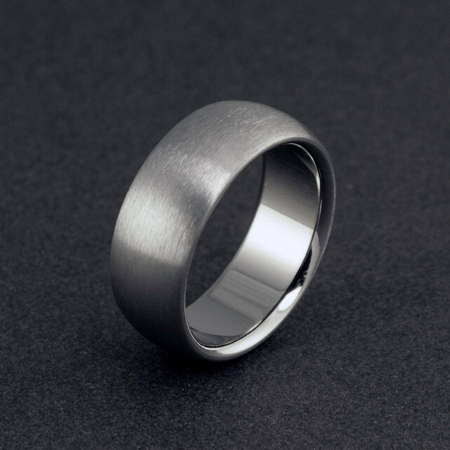 Titanium Wedding Ring, Mens Ring, Womens Ring, Titanium Band Regarding Titanium Men Wedding Bands (View 11 of 15)