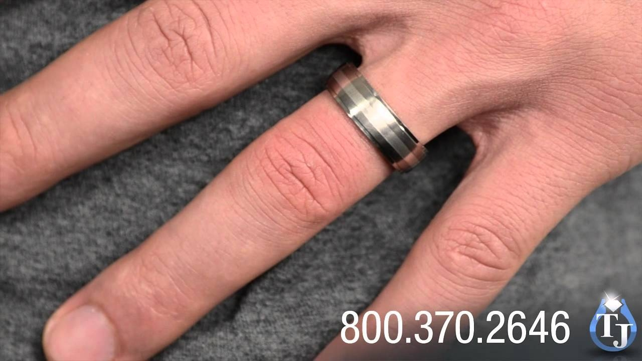 Titanium Wedding Ring With Silver Inlayedward Mirell, Drop Within 7Mm Titanium Wedding Bands (View 14 of 15)