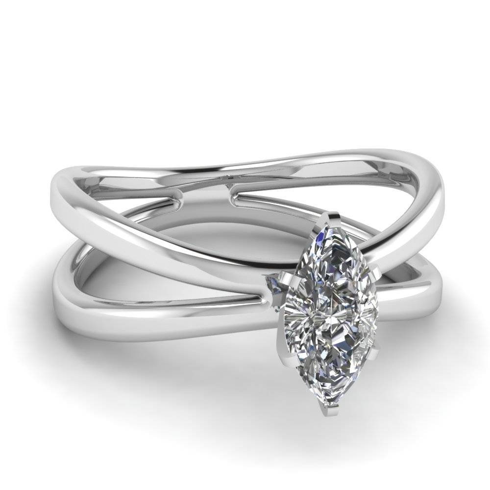 Top Twenty Marquise Engagement Rings | Fascinating Diamonds Throughout Marquise Diamond Engagement Rings Settings (View 13 of 15)