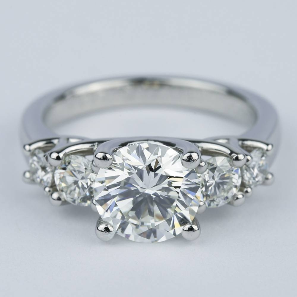 Trellis Five Diamond Engagement Ring (2 Carat Center) Regarding Five Diamond Engagement Ring (View 15 of 15)