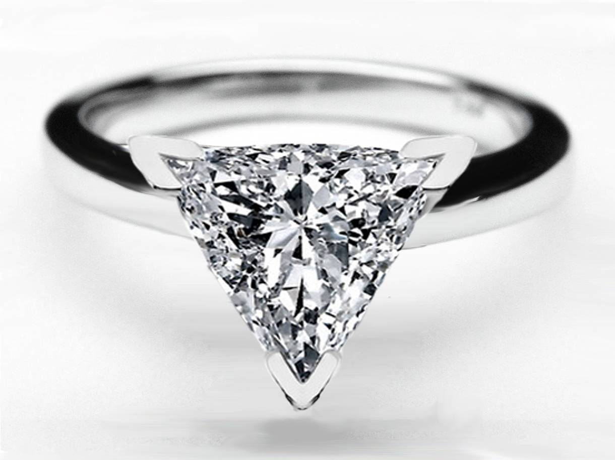 15 Best Of Triangle Cut Diamond Engagement Rings