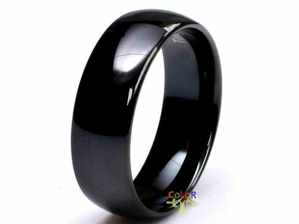 Tungsten Carbide Wedding Band.  (View 11 of 15)