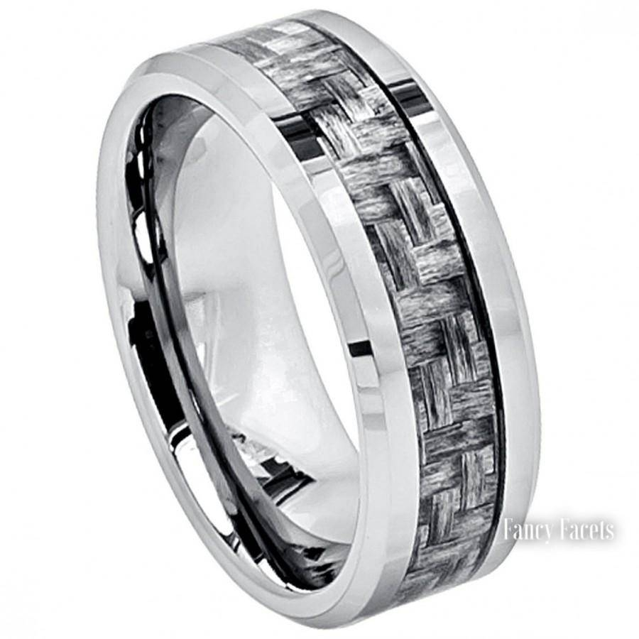 Tungsten Wedding Bands, Mens Ring, Men's Jewelry, Men's Rings Intended For Most Recent Trendy Mens Wedding Bands (View 11 of 15)