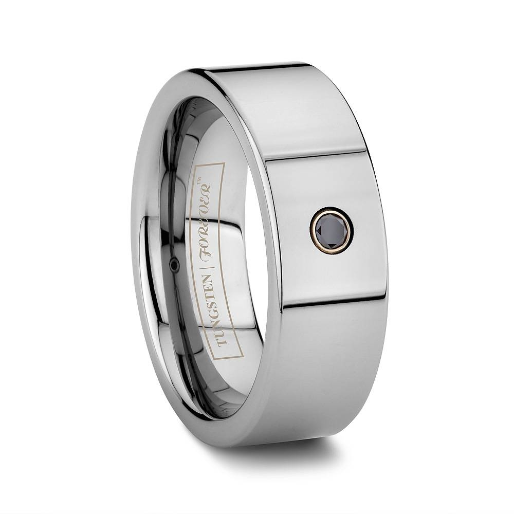 Tungsten Wedding Bands « Tungsten World Blog Within Mens Black Tungsten Wedding Bands With Diamonds (View 15 of 15)