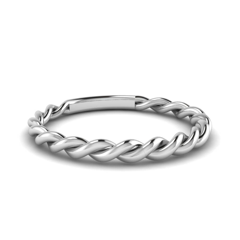 Twisted Rope Band In 14K White Gold | Fascinating Diamonds With White Gold And Gold Wedding Bands (Gallery 8 of 15)