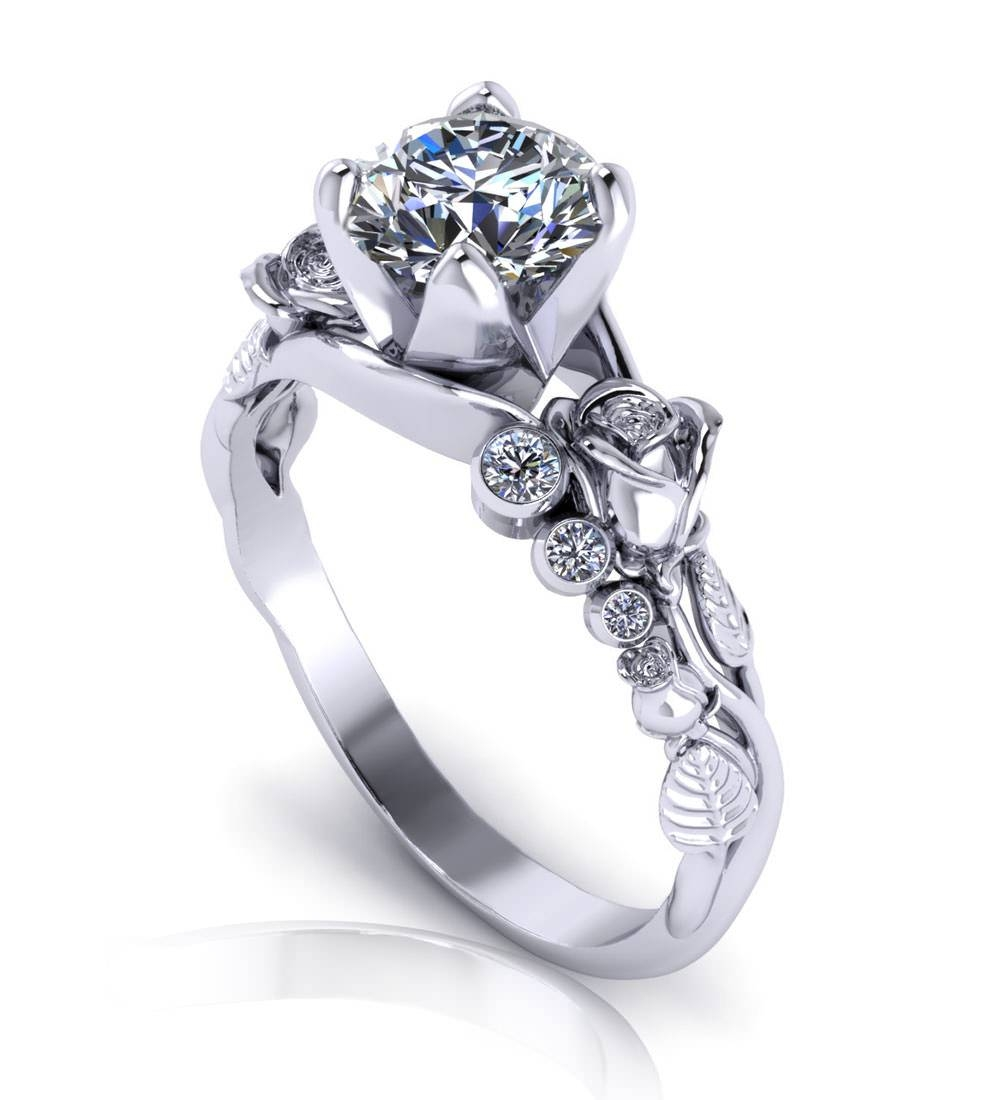 Unique Engagement Rings – Jewelry Designs Throughout Unique Engagement Rings (Gallery 4 of 15)