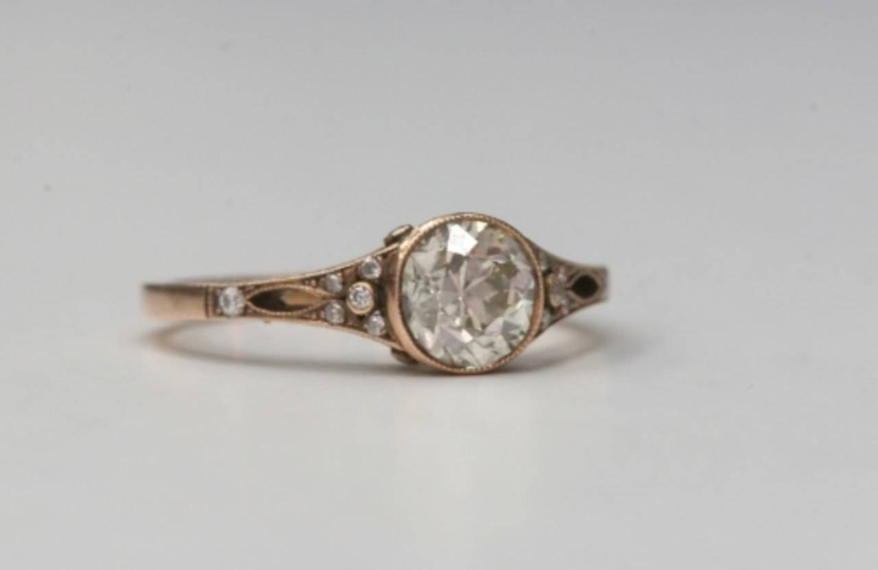 Unique Engagement Rings; Single Stone Engagement Rings; Diamond Inside Unique Engagement Rings (Gallery 12 of 15)
