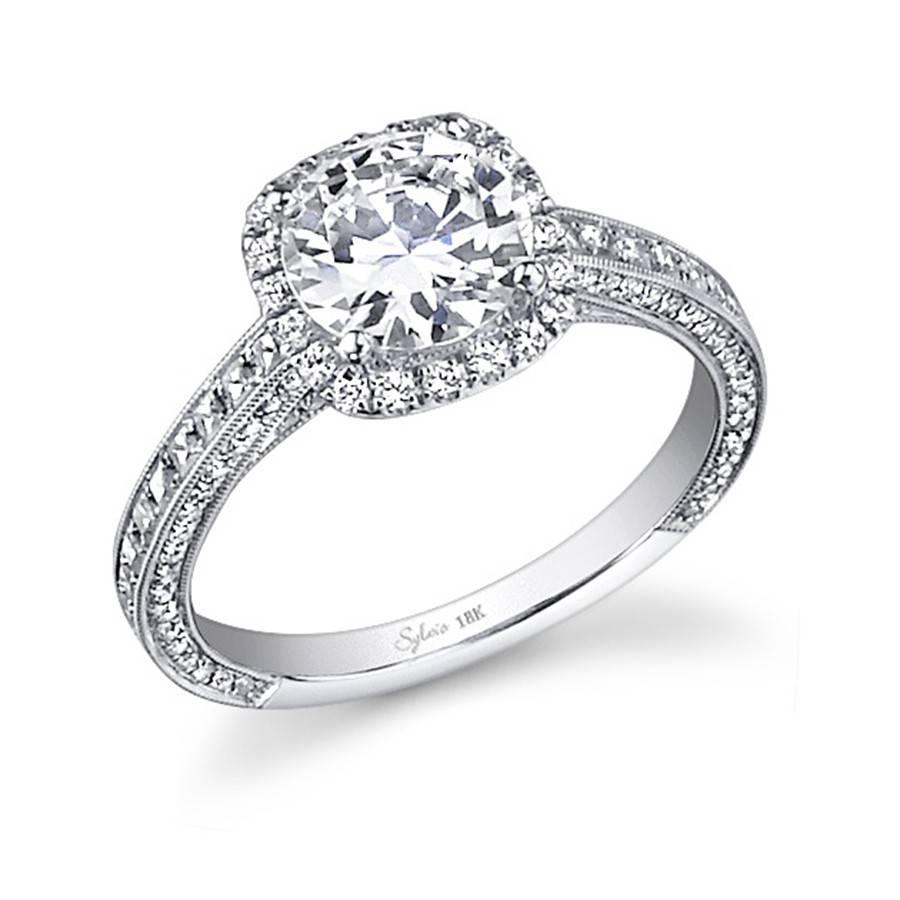 Unique Vintage With Princess Cut Side Stone Engagement Ring Regarding Unique Princess Cut Diamond Engagement Rings (Gallery 6 of 15)