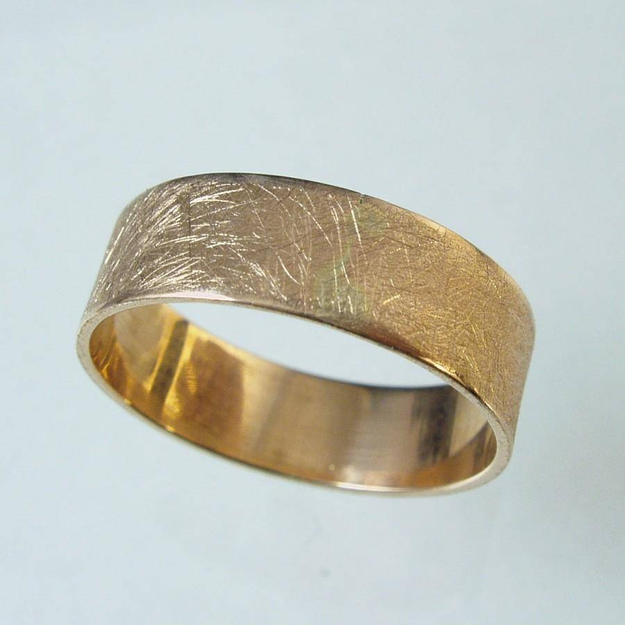 Unisex Ring, Man Wedding Band, Woman Wedding Band,14 Karat Gold Pertaining To 14 Karat Gold Wedding Bands (View 13 of 15)