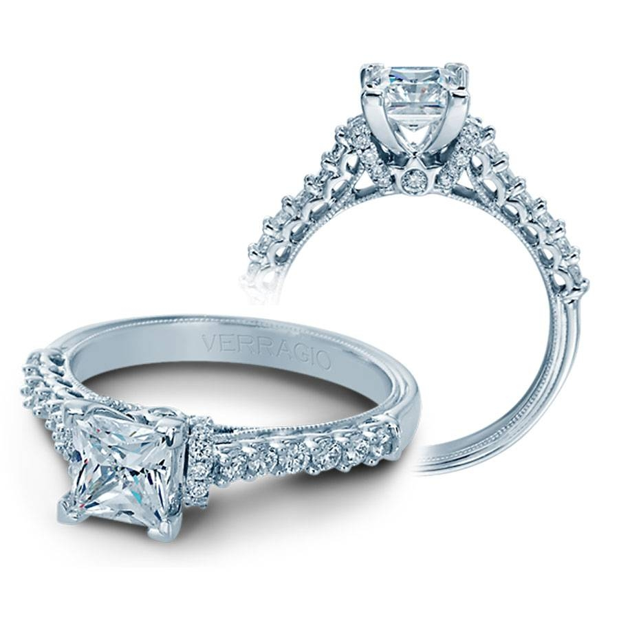 Verragio Engagement Rings V906P5.5 0.40Ctw Diamond Setting Regarding 5 Diamond Engagement Rings (Gallery 5 of 15)