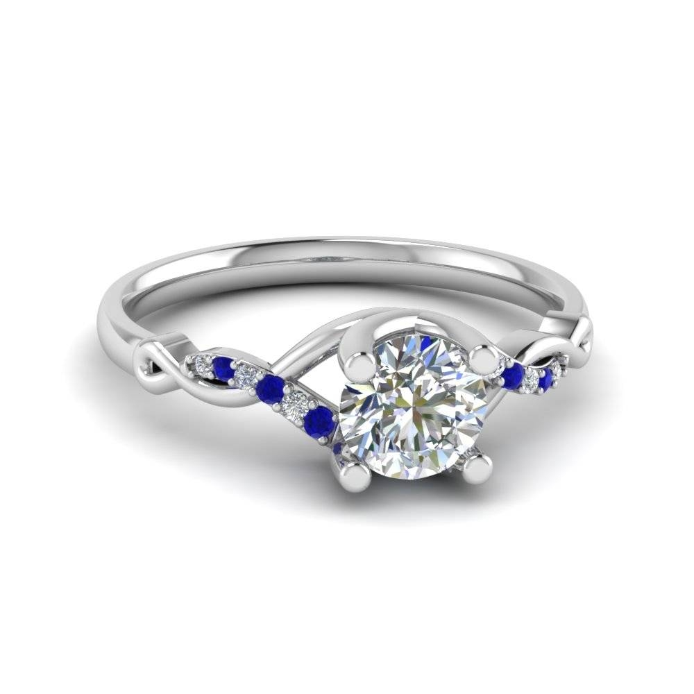 View Our Blue Sapphire Split Shank Engagement Rings | Fascinating Throughout White Gold Engagement Rings With Blue Sapphire (Gallery 8 of 15)