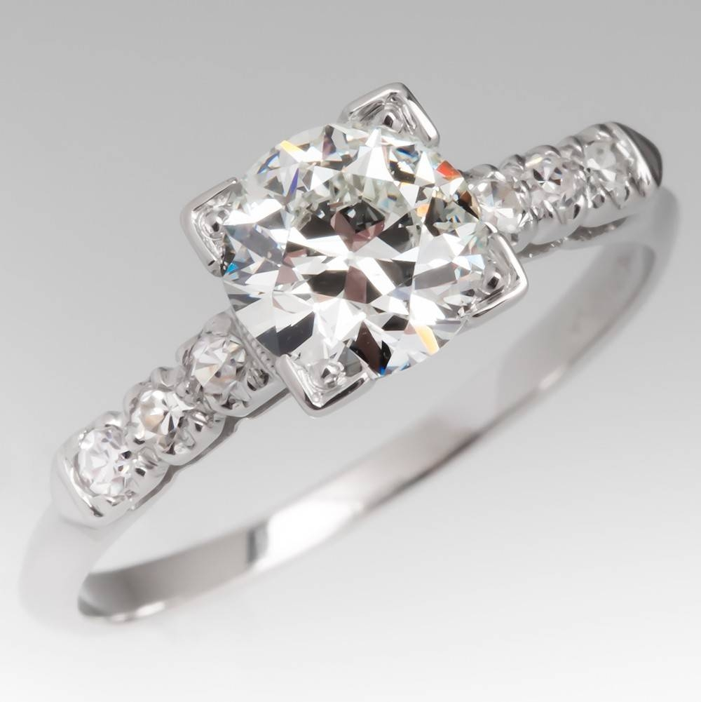 Vintage Engagement Rings | Antique Diamond Rings | Eragem Pertaining To Estate Wedding Rings (View 7 of 15)