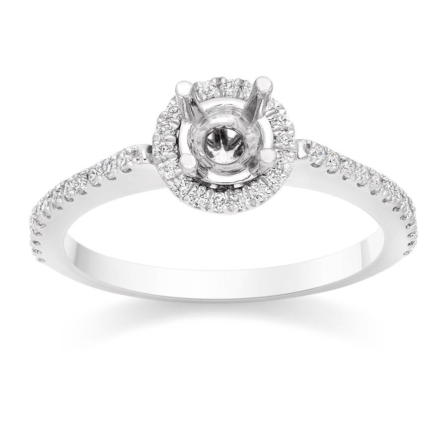 Vintage Halo Engagement Ring Setting – Vashi Intended For Vintage Halo Engagement Ring Settings (View 4 of 15)