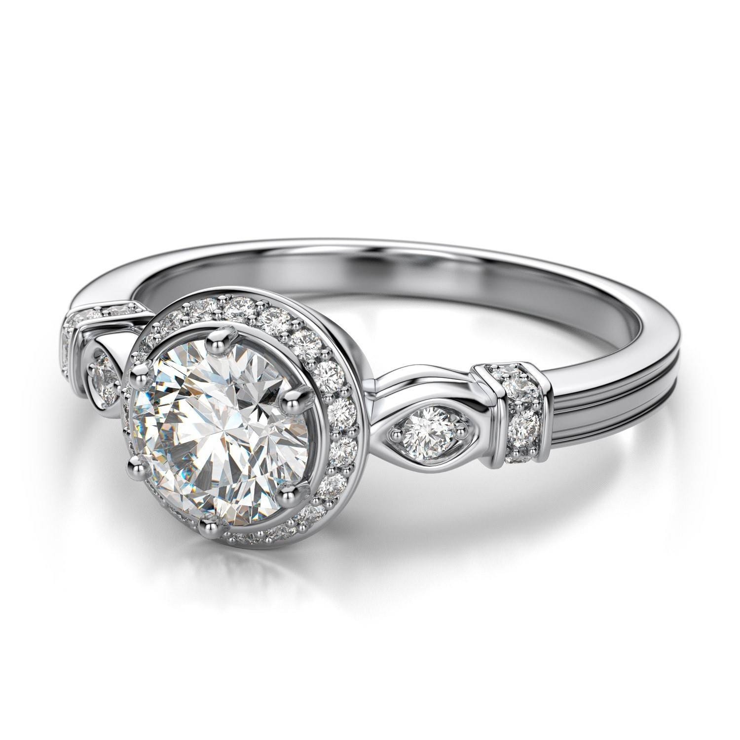 cushion by pave bridal settings two jewellery setting engagement ring halo london jewelry