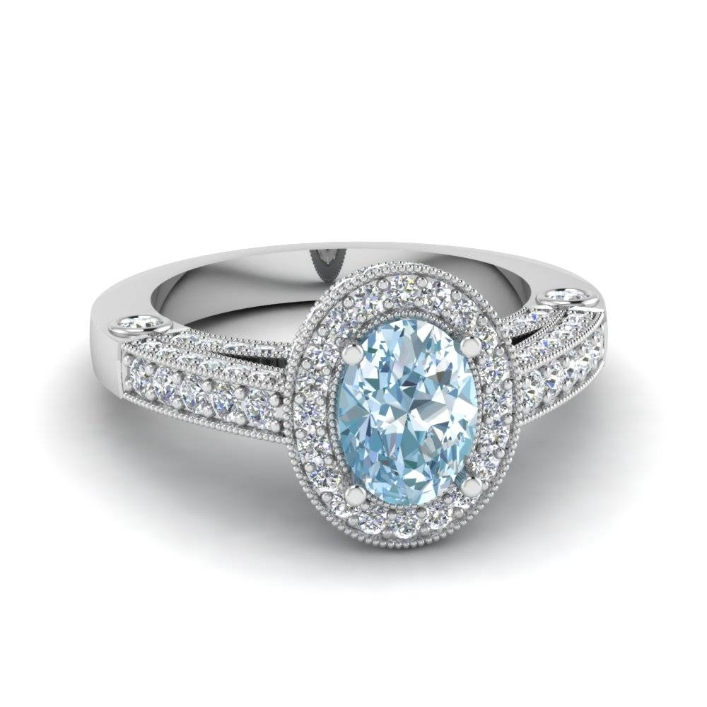 15 Best Collection Of Diamond Aquamarine Engagement Rings