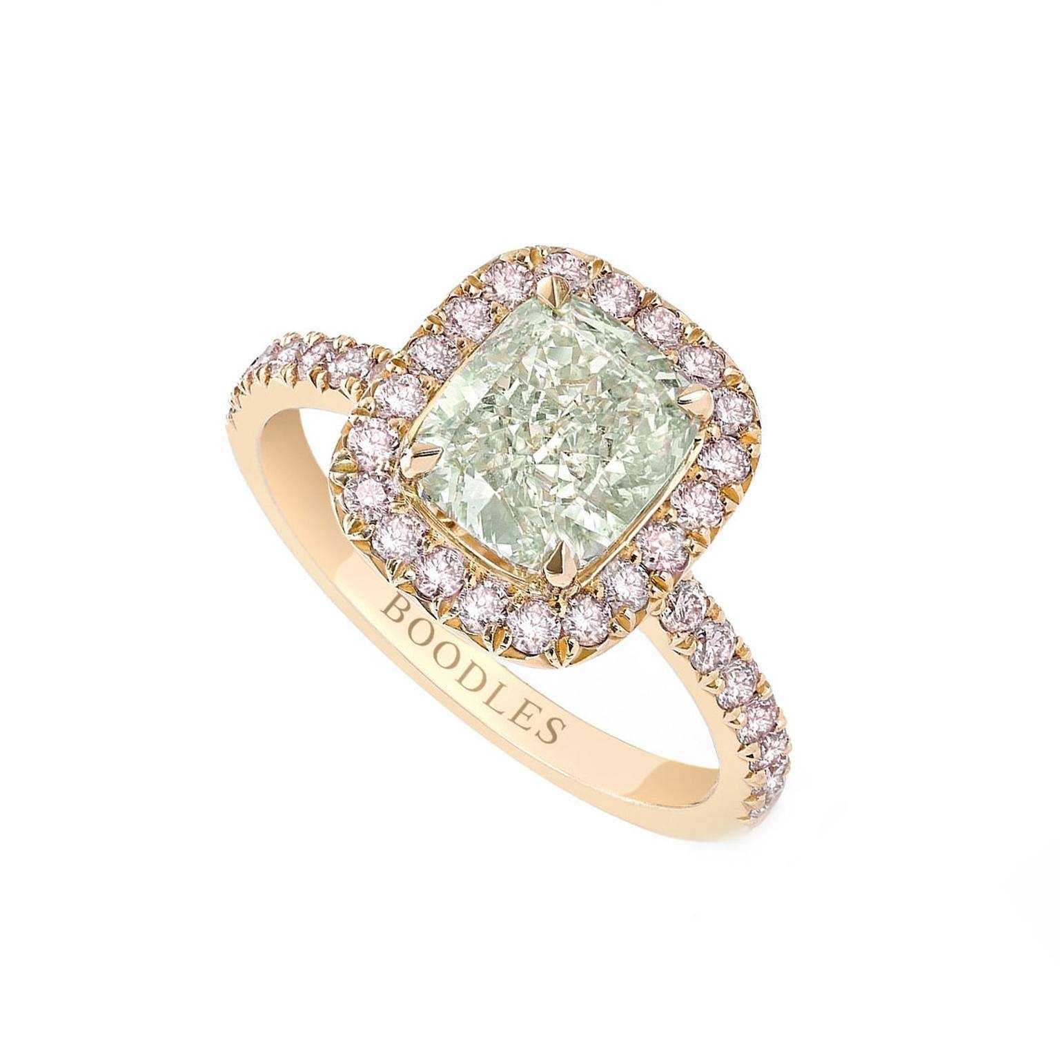 Vintage Pink And Green Diamond Ring | Boodles | The Jewellery Editor Regarding Colorful Diamond Engagement Rings (View 14 of 15)