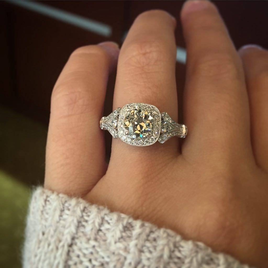 Vintage Style Engagement Rings – Designers & Diamonds Regarding Vintage Halo Engagement Rings (Gallery 13 of 15)