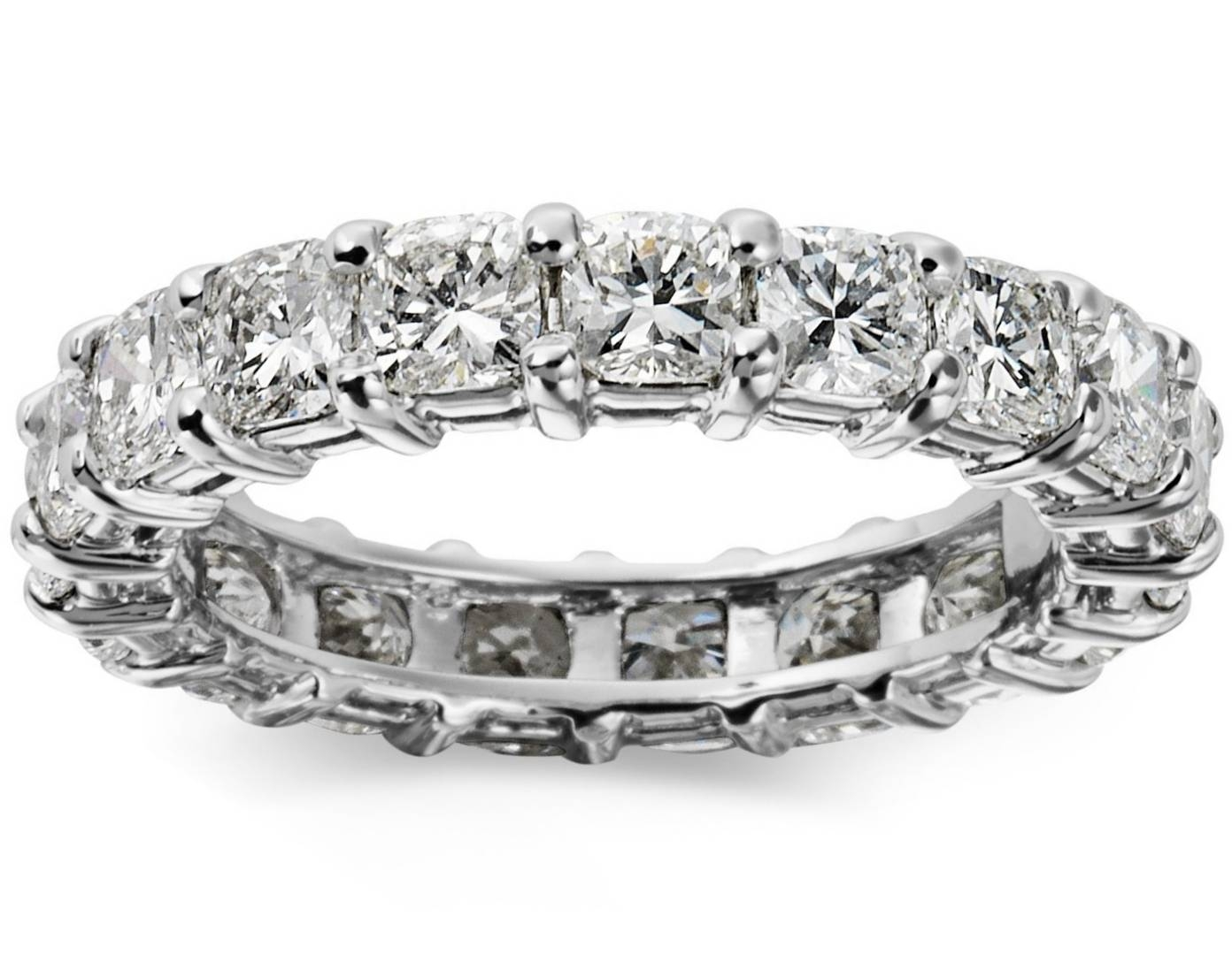 Wedding Band – Cushion Cut Diamond Eternity Ring 2.6 Carat Tw (View 4 of 15)