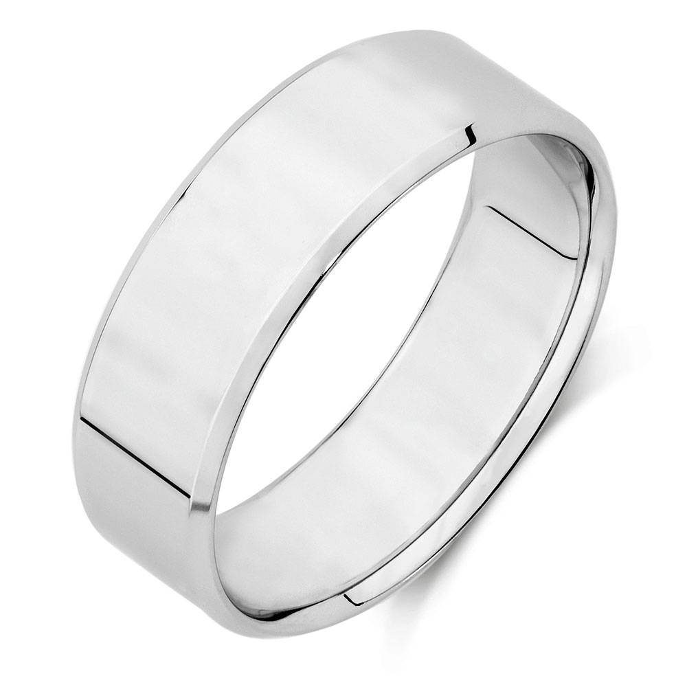 Wedding Band In 10Kt White Gold Regarding 2018 Men White Gold Wedding Band (View 9 of 15)