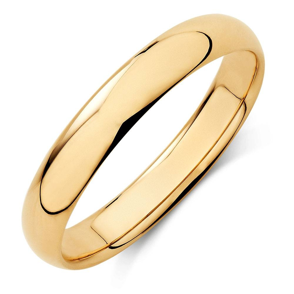 Wedding Band In 10Kt Yellow Gold In Men Yellow Gold Wedding Bands (View 13 of 15)