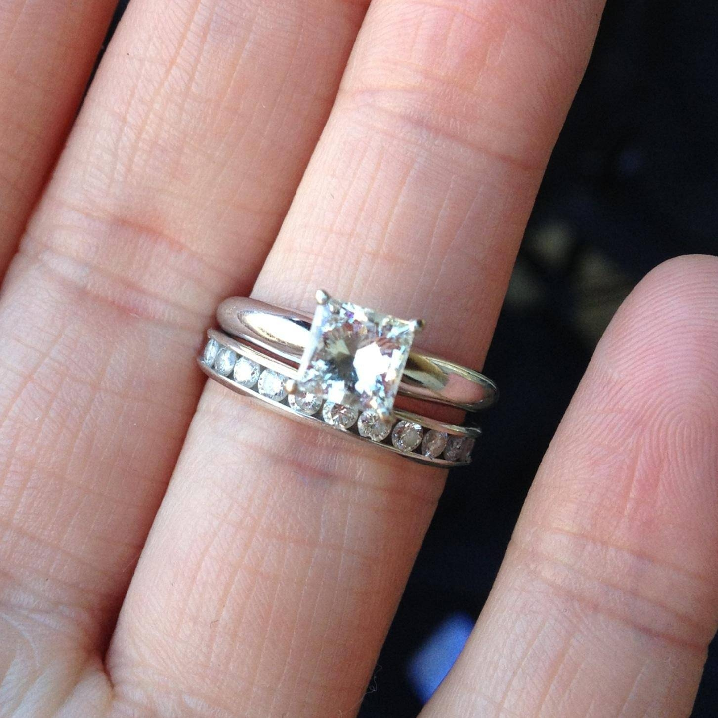 Wedding Bands Diamond Rings | Wedding, Promise, Diamond With Regard To Wedding Band To Go With Princess Cut Engagement Ring (View 4 of 15)
